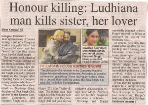 Honour Killing in Punjab
