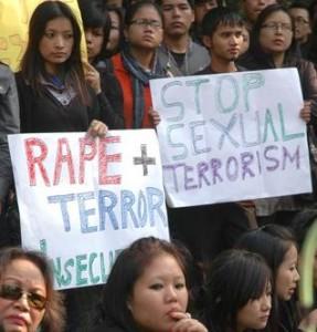 Protest on Rising rape Cases in Delhi
