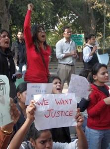 PROTESTS ON RAPE IN DELHI