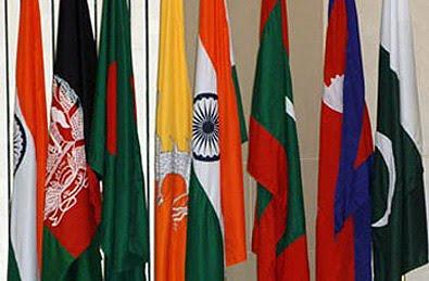 SAARC COUNTRY FLAGS